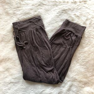 Brown Cropped Joggers